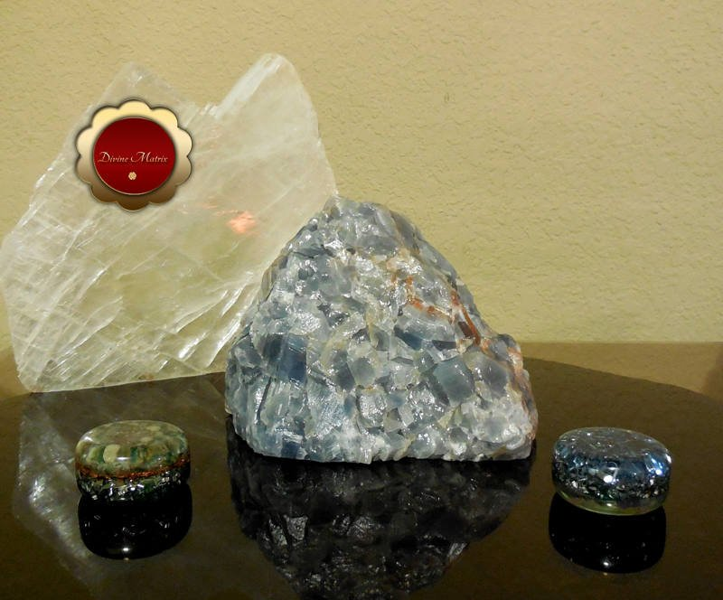 Large Blue Calcite Chunk Throat Chakra, Calming and Relaxing for Empaths