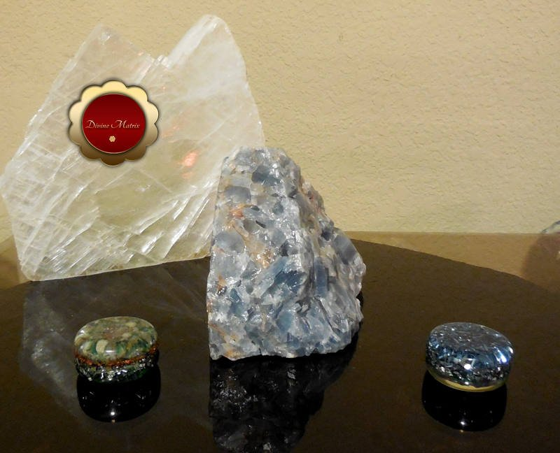 Image 1 of Large Blue Calcite Chunk Throat Chakra, Calming and Relaxing for Empaths