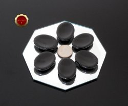 Small Polished Black Onyx Worry Stone Root Chakra Protective & Grounding