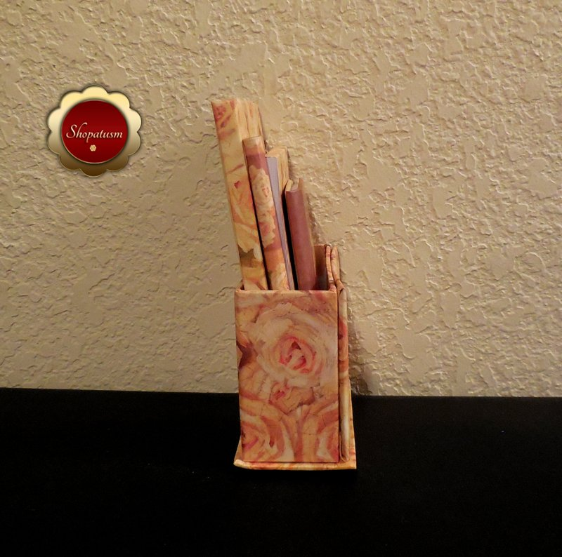 Image 1 of Floral Desktop Gift Set Journal Address Book Memo Pad Pencil Photo Frame Box