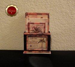 Tropical Desktop Gift Set Journal Address Book Memo Pad Pencil Photo Frame Box