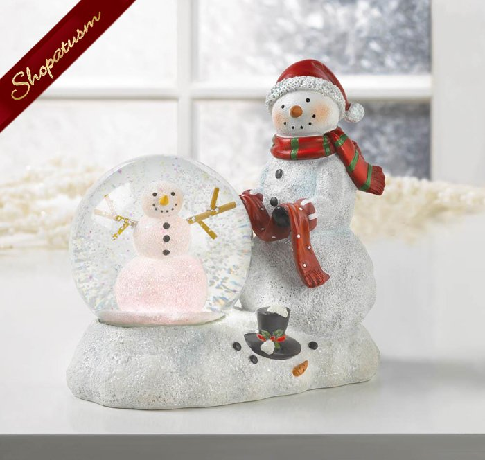 Image 1 of Christmas Snowman Decorative LED Snow Globe