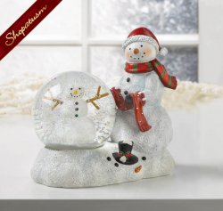 Christmas Snowman Decorative LED Snow Globe
