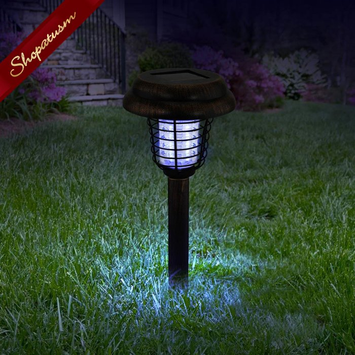 Copper Solar Bug Zapper Pathway Light Garden Stake