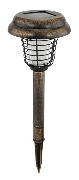 Image 1 of Copper Solar Bug Zapper Pathway Light Garden Stake
