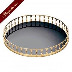 Gold Twist Mirror Tray Wedding Centerpiece Decorative Accent Piece