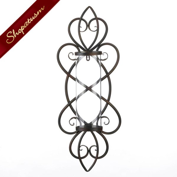 Heart Shaped Old World Style Candle Wall Sconce
