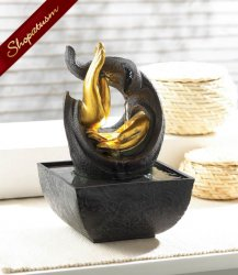 Golden Hands Accent Tabletop Water Fountain LED-Powered Light