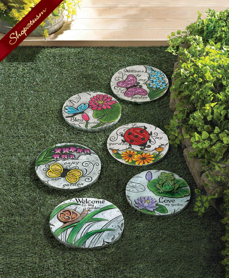 Image 1 of Bless Our Garden Butterfly Cement Stepping Stone