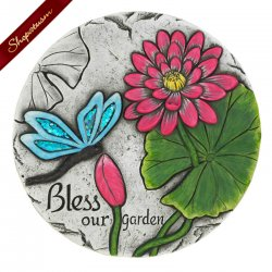 Bless Our Garden Butterfly Cement Stepping Stone
