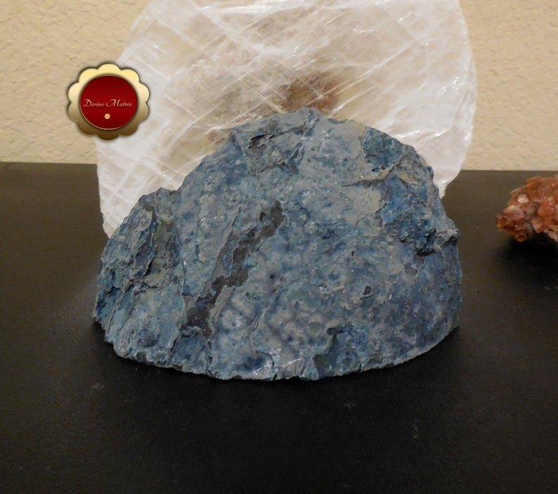 Image 6 of Blue Agate Geode, Blue Agate Quartz Druzy, Brazilian Quartz Agate