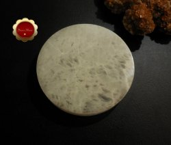 XL Selenite Charging Slab, Polished Selenite Disc, Selenite Charging Disc
