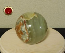 4 inch Large Green Onyx Sphere