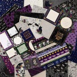 New Age Paper Pad, Scrapbook Paper, Craft Paper, Skulls, Tarot , Mystic Moon 12