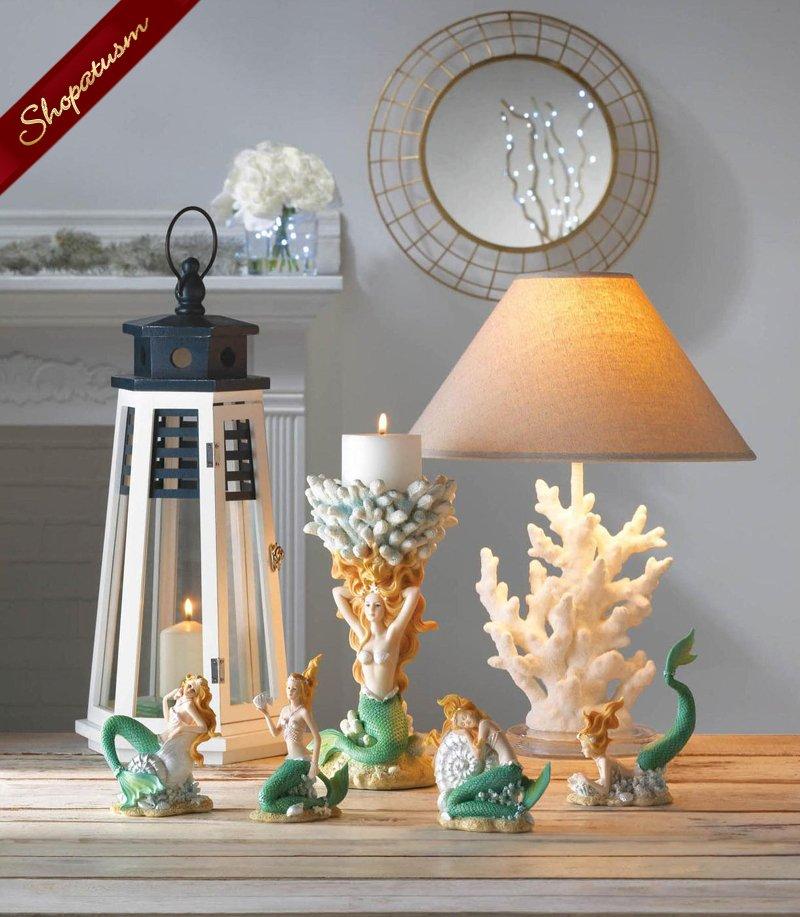 60 Large Blue and White Wood Lighthouse Lanterns