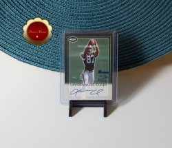 Laveranues Coles 2000 Bowman Certified Issue Rookie Auto #LC