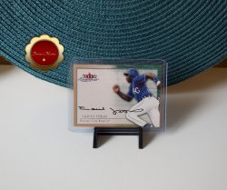 Carlos Febles 2000 Fleer Skybox Autographics Certified Auto Red Sox