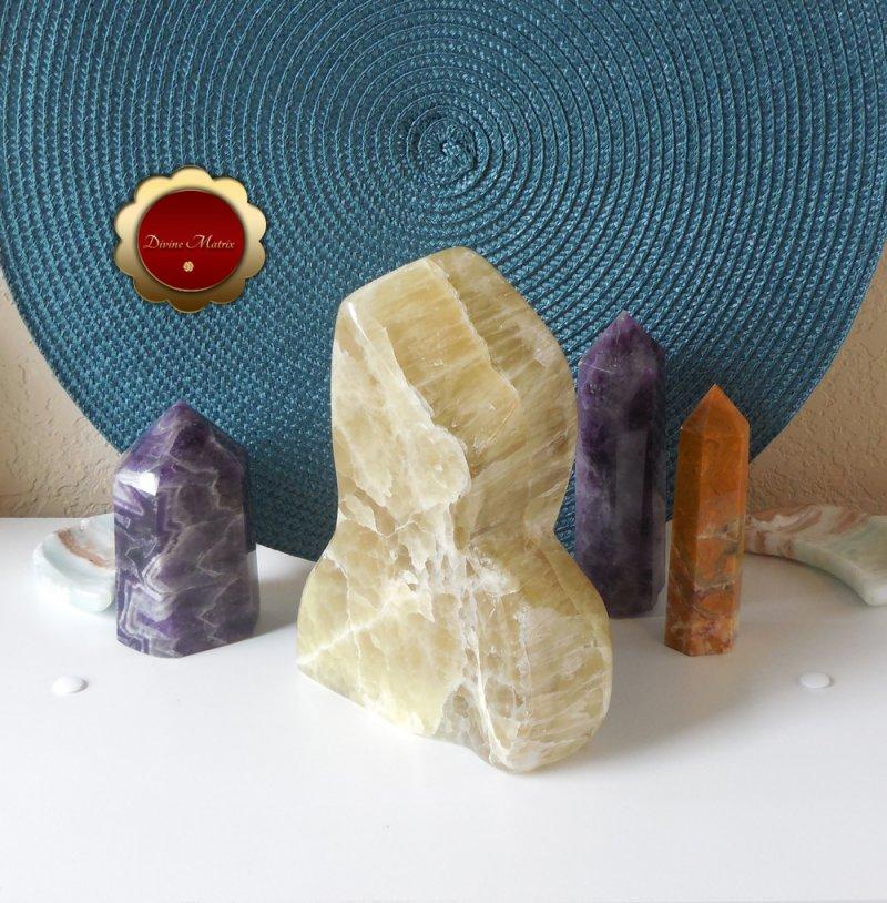 Image 2 of Large Yellow Lemon Calcite Freeform, Calcite Freeform, Lemon Calcite Crystal