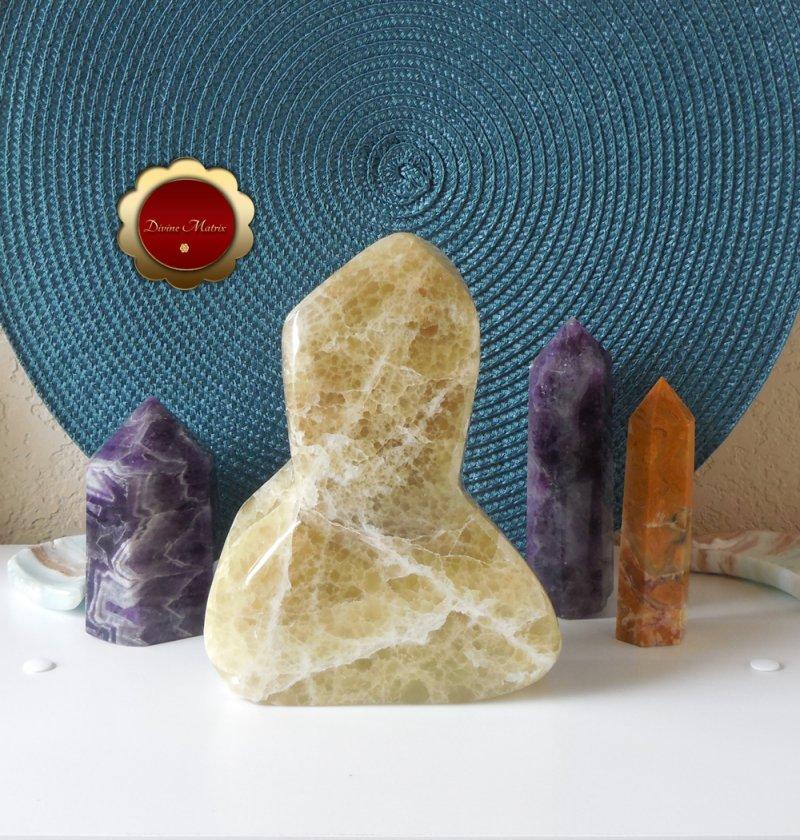 Image 4 of Large Yellow Lemon Calcite Freeform, Calcite Freeform, Lemon Calcite Crystal