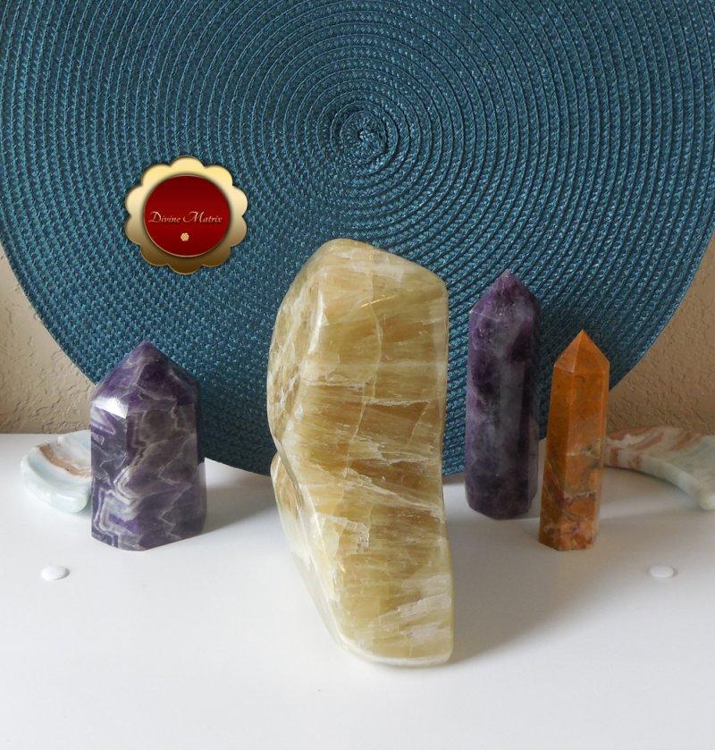 Image 6 of Large Yellow Lemon Calcite Freeform, Calcite Freeform, Lemon Calcite Crystal