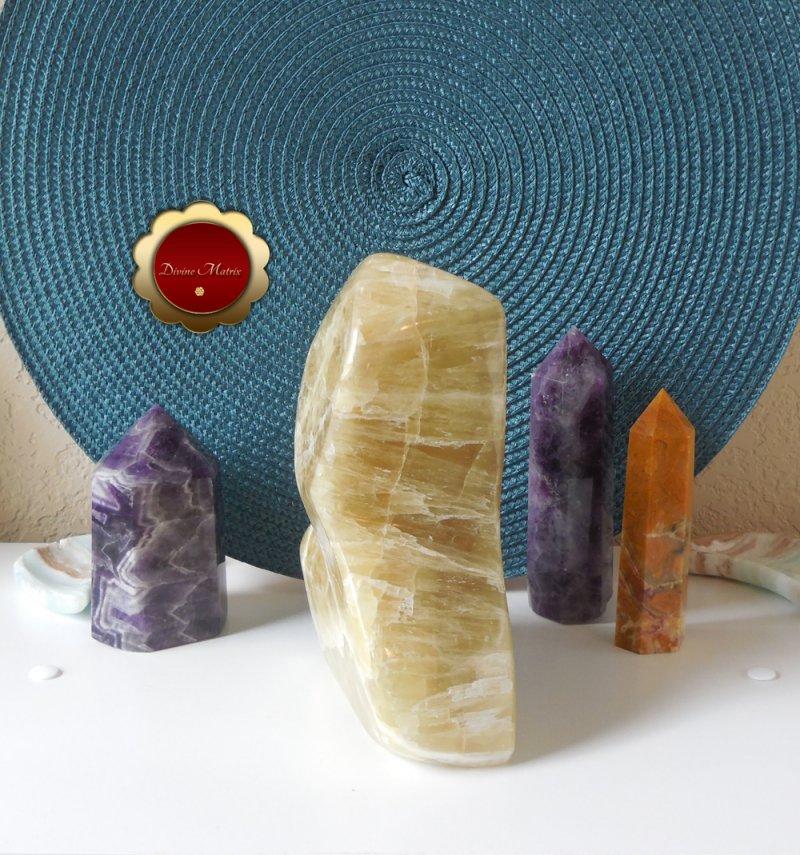 Image 7 of Large Yellow Lemon Calcite Freeform, Calcite Freeform, Lemon Calcite Crystal