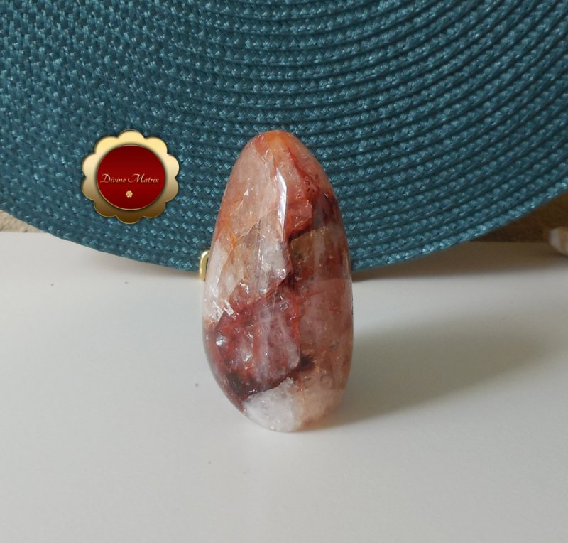 Image 3 of Red Hematoid Fire Quartz Freeform, Hematoid Quartz Crystal