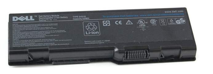 Image 0 of Dell Battery D5318 Inspiron 6000 9200 9300 9400 E1705