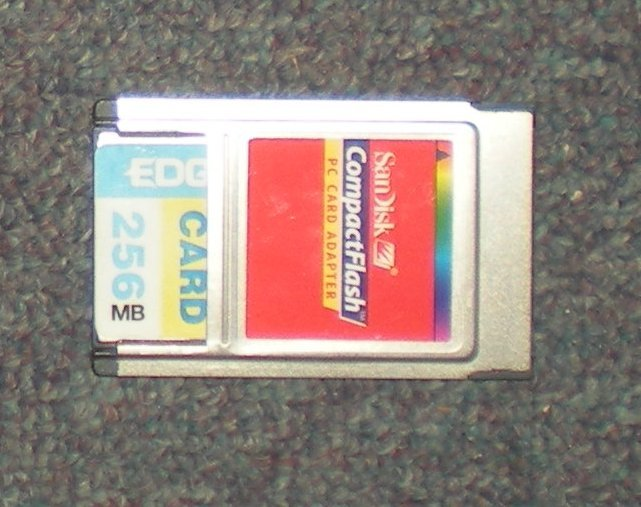 Image 0 of Compact Flash Card with Adapter