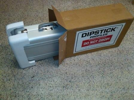 The Dipstick Kit in its ZERO case is shipped in a specially designed cardboard box.