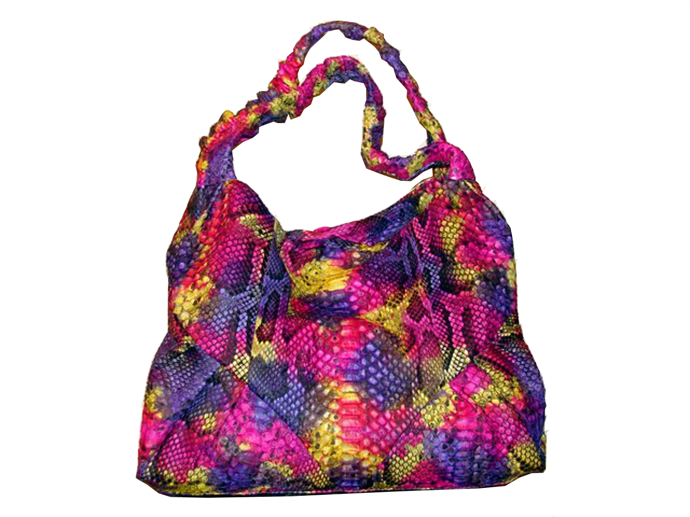Braschi Handbag Primavera Color in Genuine Python Leather!