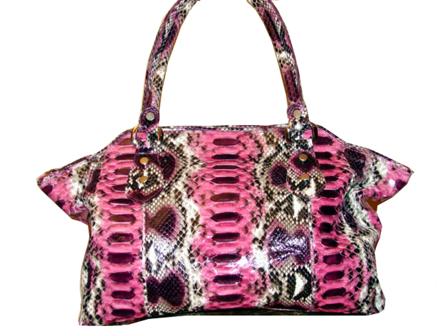 Braschi Handbag Bella Orquidea Color in Genuine Python Leather!