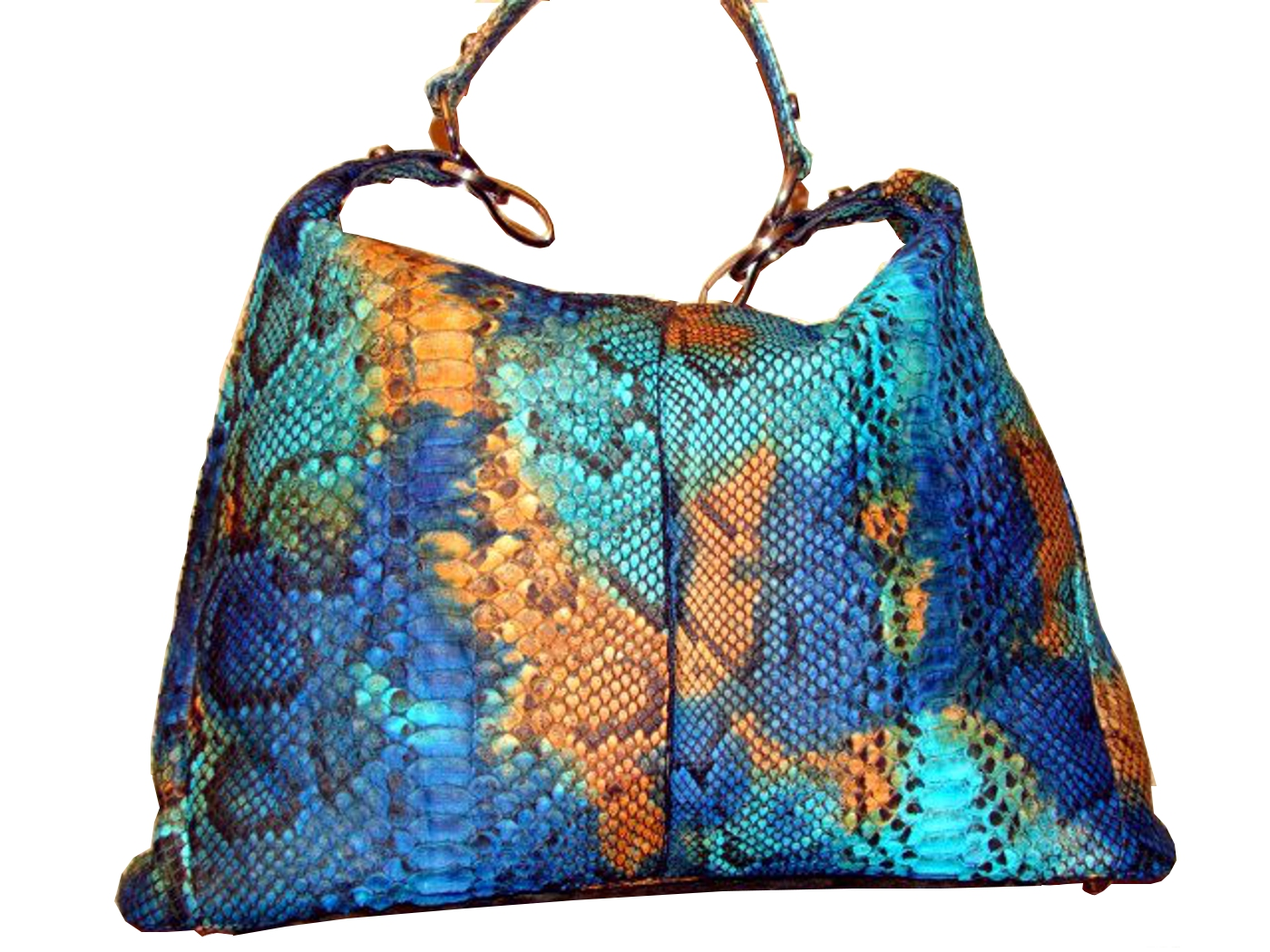 Braschi Handbag Paradiso Color in Genuine Python Leather!