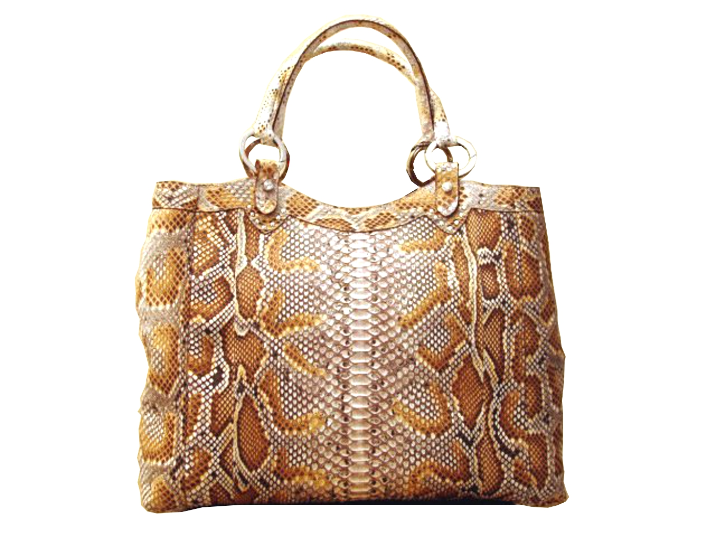 Braschi Handbag Deserto Color in Genuine Python Leather!