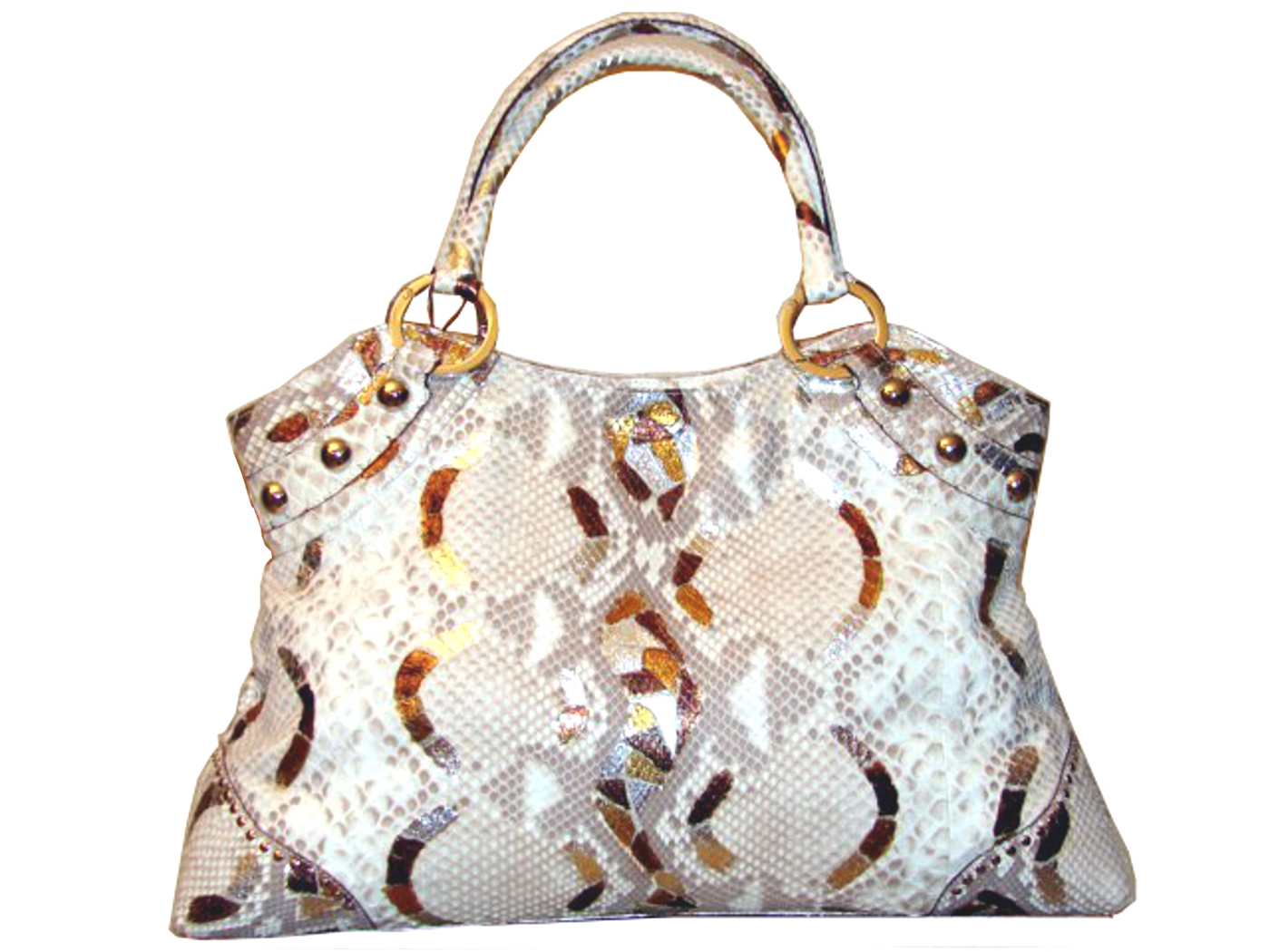 Braschi Handbag Mosaico Color in Genuine Python Leather!