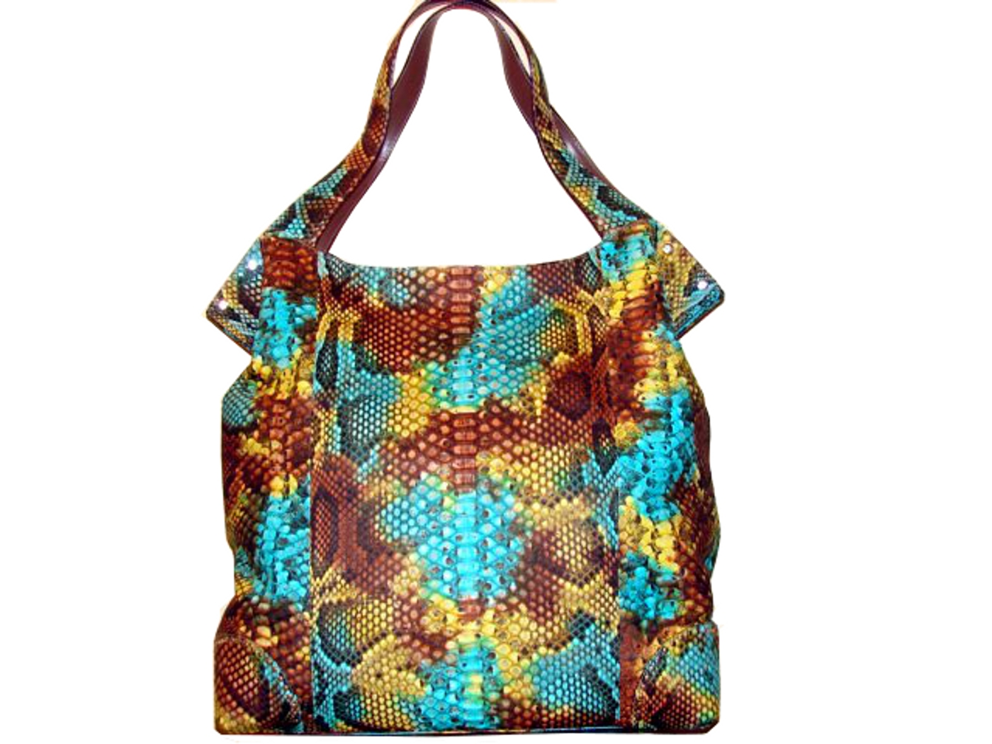 Braschi Handbag Autunno Color in Genuine Python Leather!