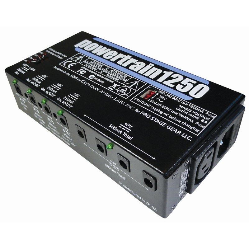 pedaltrain pt 1250 powertrain 1250 guitar pedal board multi effect power supply. Black Bedroom Furniture Sets. Home Design Ideas