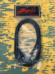 George L's 10' .225 Guitar Bass Cable BLACK Straight / Straight