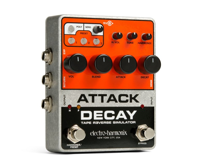 Image 0 of Electro-Harmonix Attack Decay Tape Reverse Simulator Pedal
