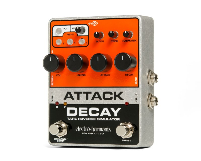 Image 1 of Electro-Harmonix Attack Decay Tape Reverse Simulator Pedal