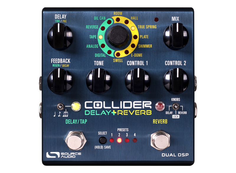 Image 0 of Source Audio Collider Delay Reverb Pedal