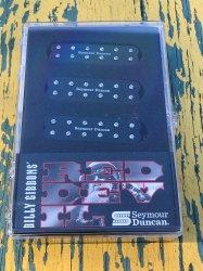 Seymour Duncan Billy Gibbons Red Devil Strat Humbucker Pickup Set - Black