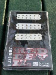 Seymour Duncan Billy Gibbons Red Devil Strat Humbucker Pickup Set -WHITE