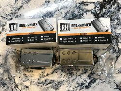 RAILHAMMER Hyper Vintage Humbucker Pickup SET Chrome