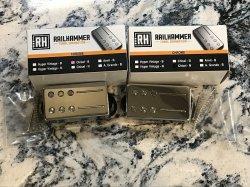 RAILHAMMER Chisel Humbucker Pickup SET Chrome