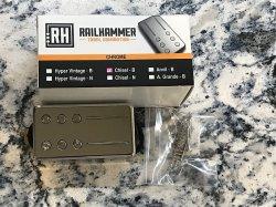 RAILHAMMER Chisel Bridge Chrome Humbucker Pickup
