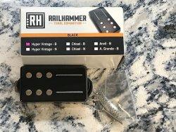 RAILHAMMER Hyper Vintage Bridge Black Humbucker Pickup