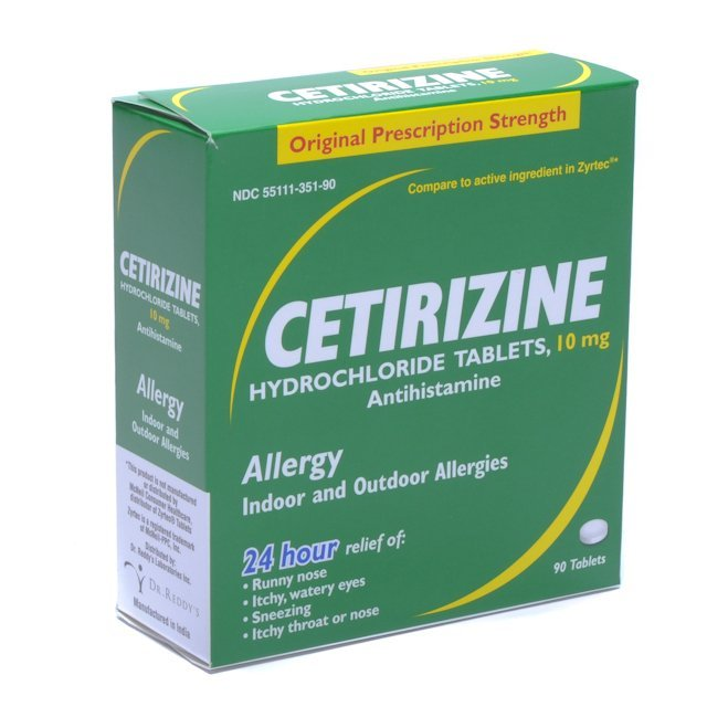 Cetirizine Hcl Allergy Relief 10 MG 90 Tablets