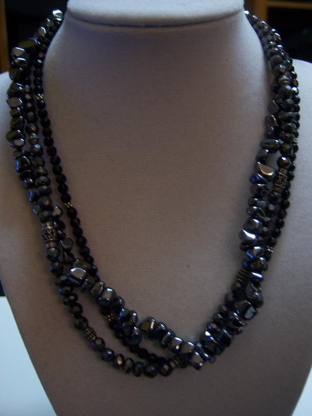 N1094 retired silpada sterling silver hematite necklace for Cookie lee jewelry catalog 2009