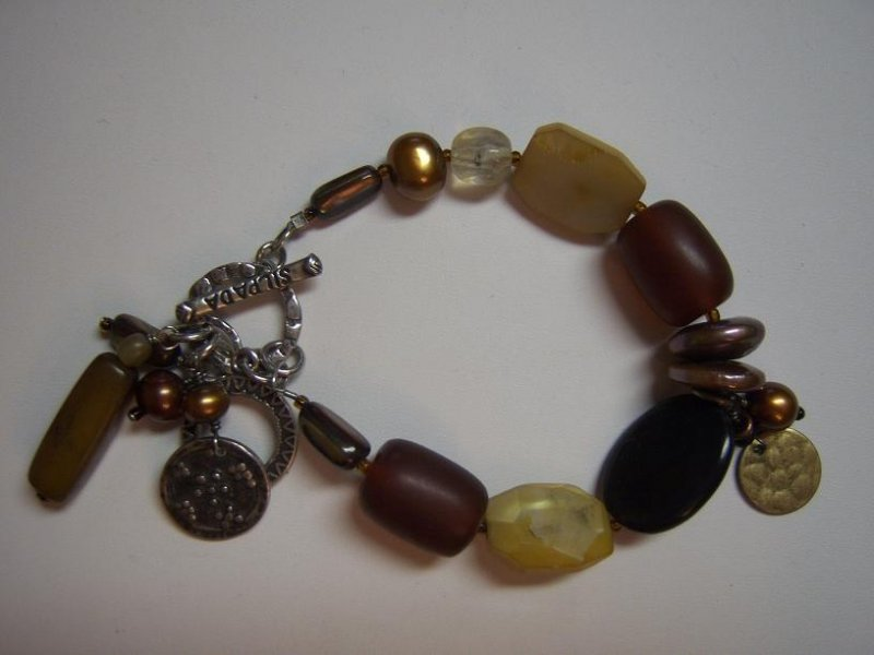 B1776 retired silpada multi stone bracelet 2009 catalog for Cookie lee jewelry catalog 2009