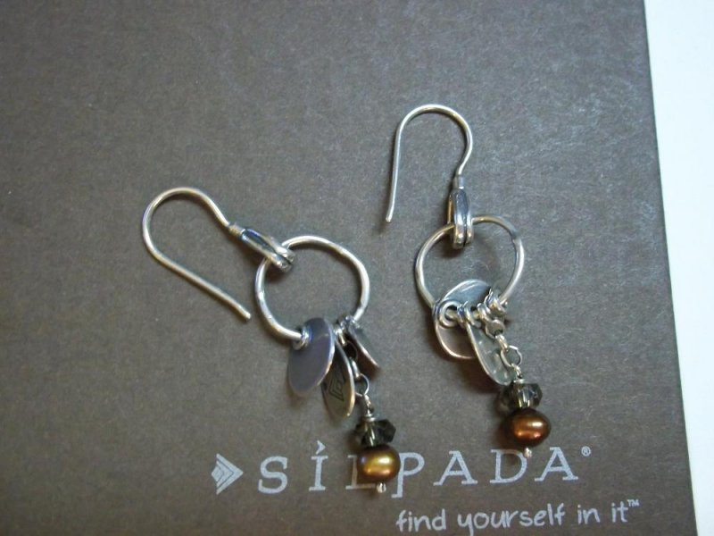 W1550 retired silpada bronze freshwater pearls earrings for Cookie lee jewelry catalog 2009